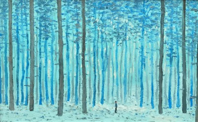 Modern Artist Stuart BUCHANAN - Deep in the Forest - The Forest is Quiet but Never Silent