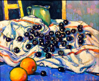 Modern Artist Terence CLARKE - Cherries and Peaches