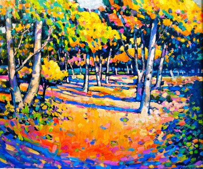 Autumn Woodland, Blackwell painting by artist Terence CLARKE