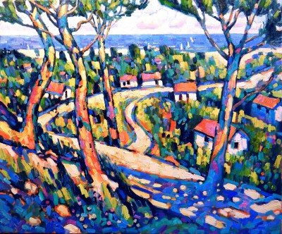 Modern Artist Terence CLARKE - Path to the Sea, Provence
