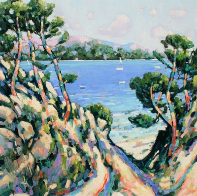 Terence CLARKE, contemporary artist&nbsp;-&nbsp;<span style='color:red;font-size: 200%'>&#8226;</span> Calanques de port d'Alon