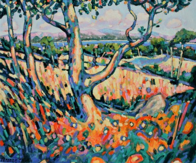 Terence CLARKE, contemporary artist - Afternoon Sun, Provence