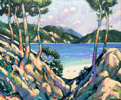 Terence CLARKE - Rocks and Pines near Port d'Olon