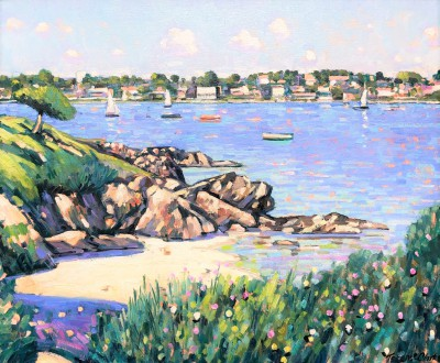 The Little Beach, Cap Ferrat painting by artist Terence CLARKE