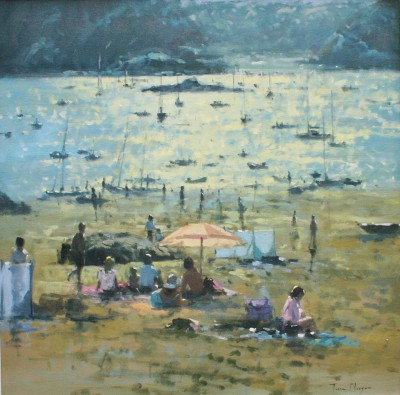 Modern Artist Tina MORGAN - Light through a Parasol, Salcombe