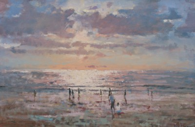 Modern Artist Tina MORGAN - October Evening, Kuta Beach