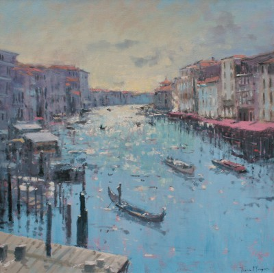 Modern Artist Tina MORGAN - A View of the Grand Canal