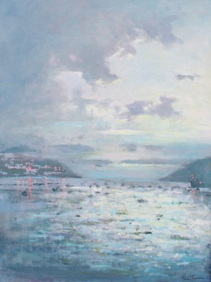 Modern Artist Tina MORGAN - Looking out to Sea, Fowey