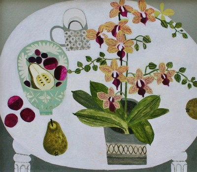 Modern Artist Vanessa BOWMAN - Orchid and Pears