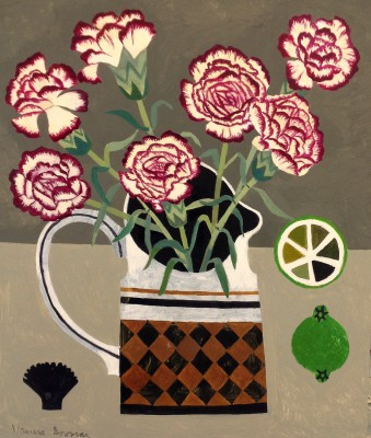 Vanessa BOWMAN, contemporary artist - Carnation, Limes and Black Shell