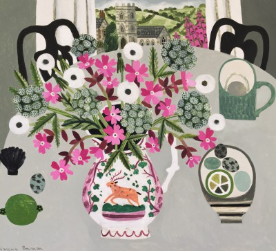 Vanessa BOWMAN - Hedgerow Flowers in Lustreware Jug