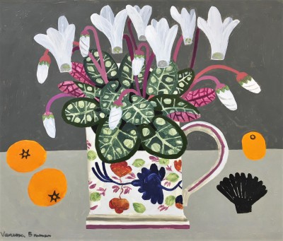 Vanessa BOWMAN - White Cyclamen in Antique Cup