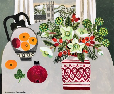 Vanessa BOWMAN - Christmas Roses and Tangerines