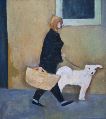 Modern Artist William Balthazar ROSE - White Dog